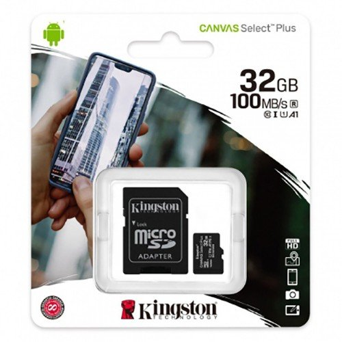 Kingston micro sd 32gb 100mb/s class 10 + sd adapter